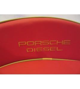Tractor Zitkussen Rood Porsche Diesel 12 cm rugleuning
